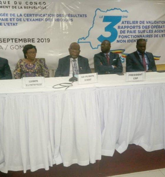 RDC : 10 000 agents fictifs à élaguer du fichier de paie, 6,5 millions USD à récupérer par l'Etat 14