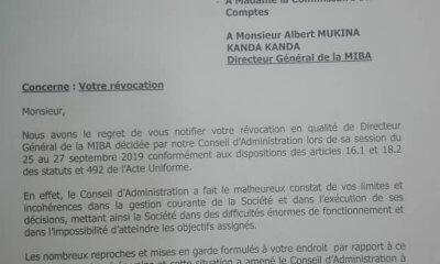 RDC : Le DG de la Miba révoqué pour ses limites et incohérences dans la gestion ! 47