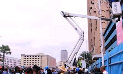 Kinshasa : le Gouverneur Ngobila lance les travaux de réhabilitation de l'éclairage public de grandes artères de la ville! 9