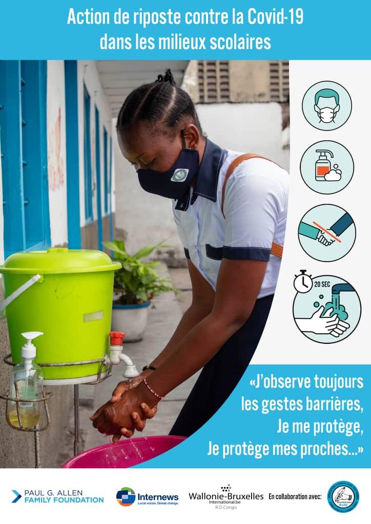 RDC : ACOFEPE lance une campagne anti-covid-19 dans le milieu scolaire!