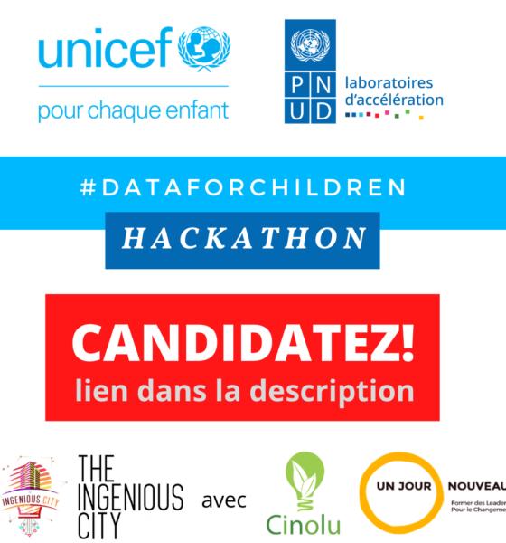 RDC : l'UNICEF et le PNUD lancent un appel à candidature au Hackathon #DATAFORCHILDREN mis en œuvre par Ingenious City! 1