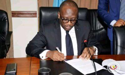 RDC: le ministre des finances signe trois accords d'appuis budgétaires de la BAD pour 142 millions USD