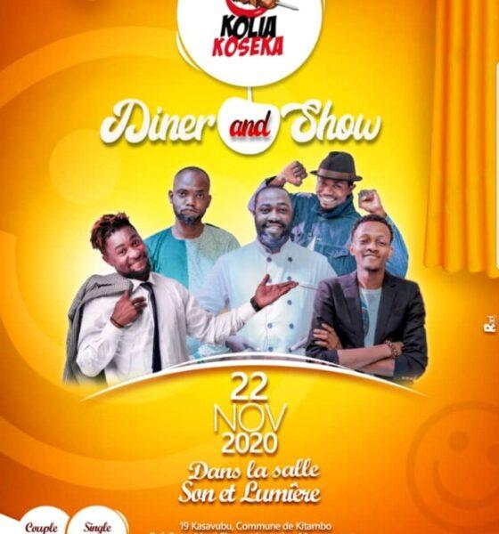 RDC : premier diner-show « Kolia-Koseka », un pari gagné pour son initiatrice Tysia Mukuna 1
