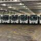 RDC : Le ministre des transports réceptionne le deuxième lot de 110 bus Transco à Boma 74
