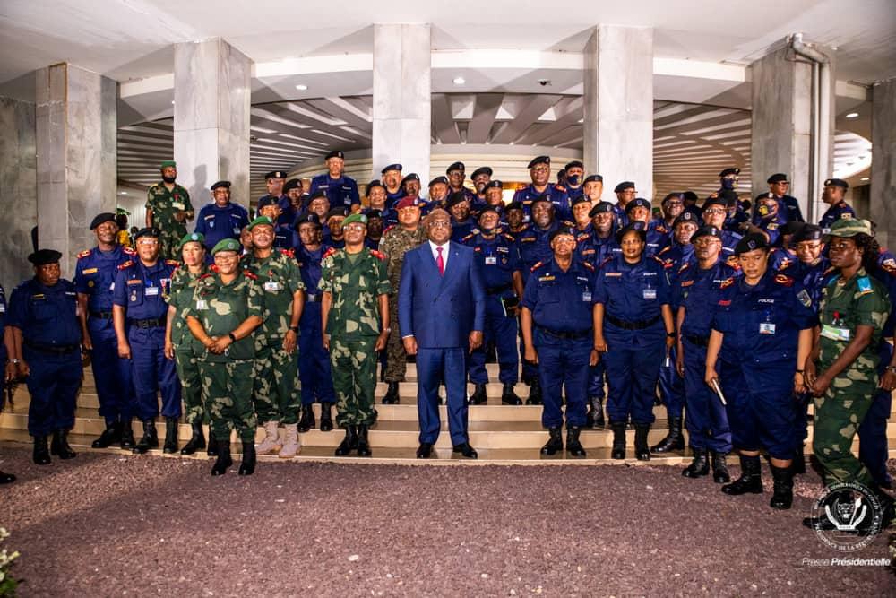 RDC: Les généraux des FARDC et de la Police réitérent leur loyauté inébranlable au Chef de l'Etat 1