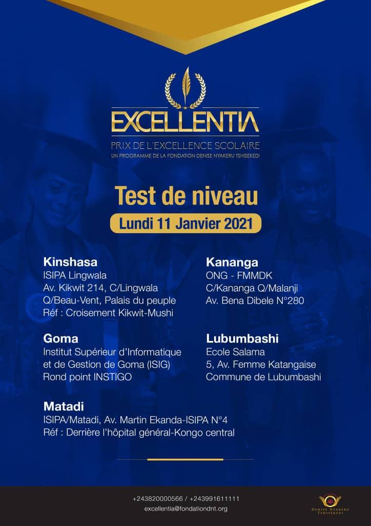 RDC : Deuxième édition d'Excellentia, les candidats retenus ont passé le test d'évaluation 1