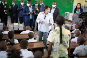 RDC : Denise Nyakeru inaugure deux écoles primaires à Kinshasa 4